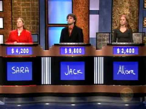 Jack in Jeopardy! 9/19/2006 - Double Jeopardy! round