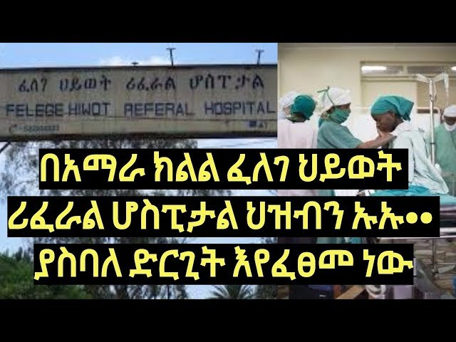 Amhara Referral Hospital Bad day to day Operation