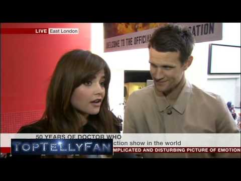 Matt Smith & Jenna Coleman talk about Doctor Who 50th Anniversary (BBC News, 23.11.13)