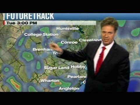 Weatherman tries to stop hiccups on air