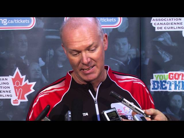 Semifinal Media Scrum - 2013 Tim Hortons Brier