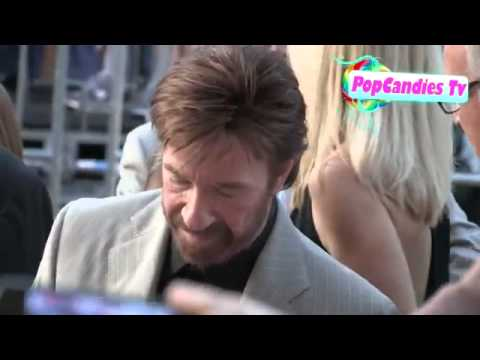 PART 2--Chuck Norris and wife Gena greet fans at Expendables 2 premier in Hollywood
