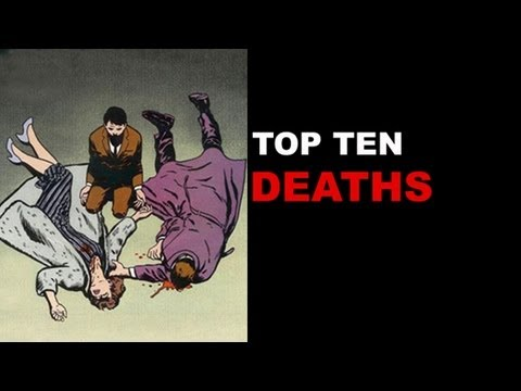 Top Ten Comic Book Deaths - Gwen Stacy, Superman, Jean Grey, Jason Todd