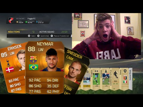 Best Thing Ever... Sif Neymar + Motm Eriksen Pack Opening!! - Fifa 15 Pack Opening video