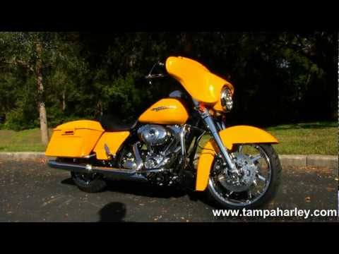 ... New 2013 Harley Davidson Flhx Street Glide In Chrome Yellow Pearl For