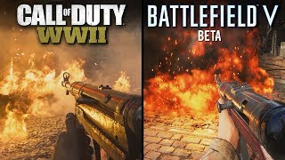 Battlefield V (BETA) vs Call of Duty: WWII | Direct Comparison