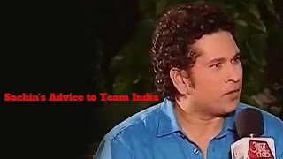 Champion Phir Se: Sachin Tendulkar's Advice to Team India
