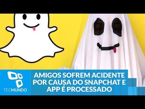 Amigos sofrem acidente de carro por causa do Snapchat e app é processado