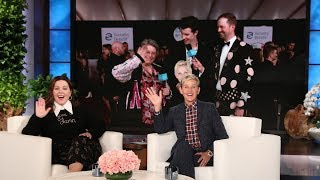 Andy Zenor & Viral Star Mary Halsey Take the 2018 AMAs Red Carpet  from TheEllenShow