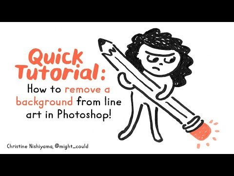 Quick Tutorial: How to Remove Background from Line Art in Photoshop