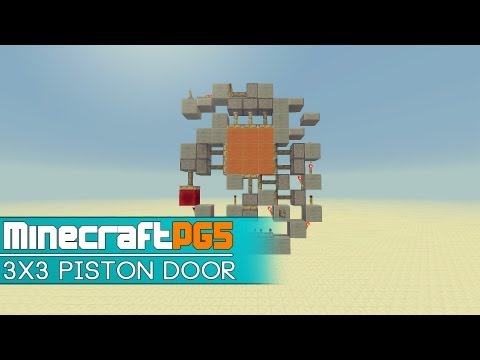 3×3 Piston Door – 9x11x1 compact – Minecraft – 2MineCraft.com