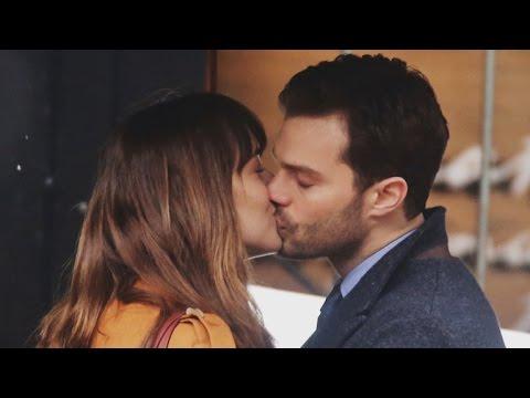 'Fifty Shades Darker' is Filming! See Pics of Dakota Johnson and Jamie Dornan's Steamy Kiss
