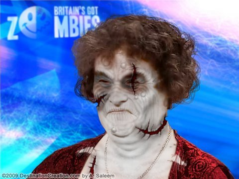 Thumb Susan Boyle como una Zombie