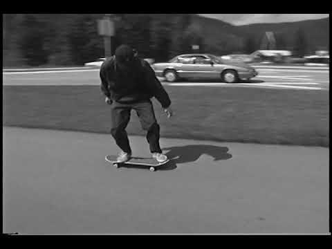 Rick McCrank skateboarding Whistler Village and Skatepark 90's skateboard snakerun