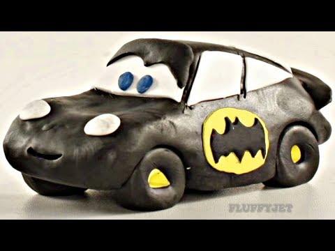 Lightning McQueen Batman Car Play Doh Stop Motion - Video For Kids