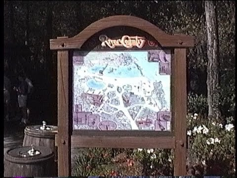 Disney's Fort Wilderness Campground 1991 Footage: Trails End, Settlement Trading Post, River Country