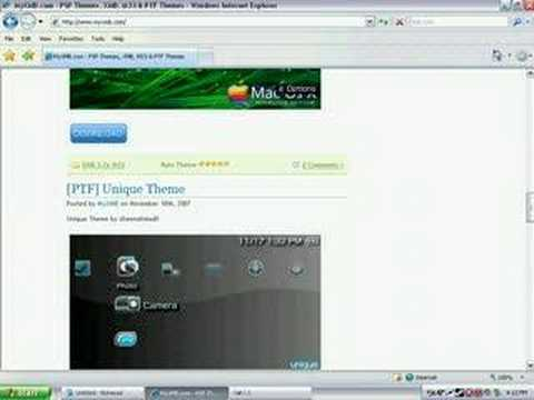 How to get Themes on PSP
