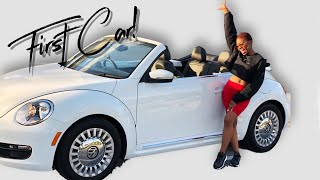 I BOUGHT MY FIRST CAR!    Convertible Volkswagen Beetle Car Tour!