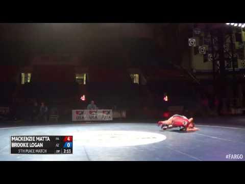 143 5th Place - Brooke Logan (Arizona) vs. Mackenzie Matta (Pennsylvania)