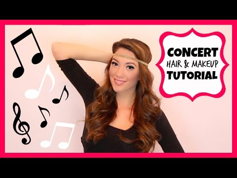 Concert Hair & Makeup Tutorial + Airbrush Foundation Demo!