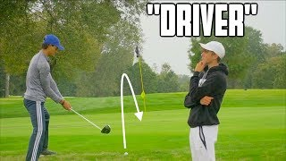 Guy Who Has Never Played Golf Caddies For Me - Challenge | GM GOLF