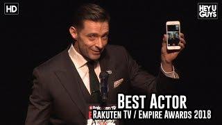 Download lagu Hugh Jackman Facetimes his wife during the Best Actor award speech - Empire Awards 2018 gratis