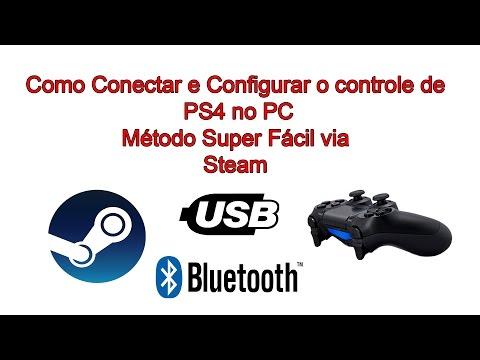 Como Conectar e Configurar o Controle de PS4 no PC Novo Método Super Fácil pela Steam