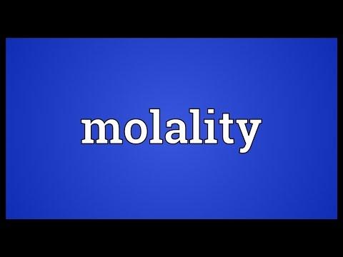Header of molality
