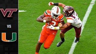 Virginia Tech vs. Miami Football Highlights (2019)