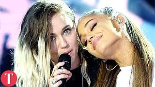 There's Something Strange Happening With Miley Cyrus And Ariana Grande Friendship