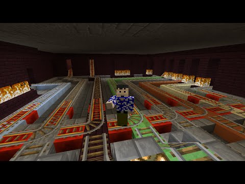 Minecraft Lets Play Candyland Episode 4 Cart launching nether rail system completed
