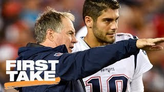 First Take reacts to Bill Belichick's comments on Jimmy Garoppolo trade | First Take | ESPN
