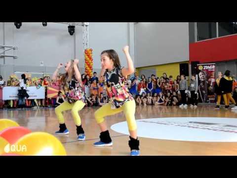 AQUA - Hip Hop Duo Kids 1st Place / Elena & Ivona - International Macedonia Open 2014