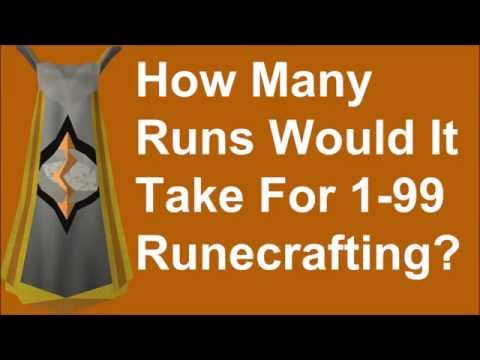 This video breaks it down to show the minimum number of runs to 99 runecrafting, trusting you use the highest pouch available. This guide shows runs for both OSRS and RS3 :) Subscribe for...