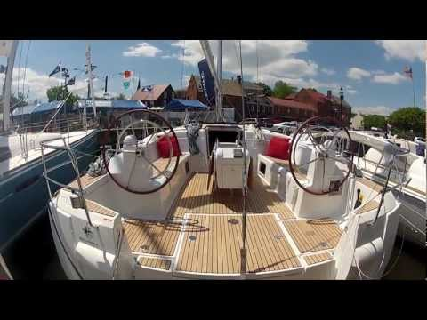 New Jeanneau 509 sailboat tour at 2012 Annapolis Sailboat Show by ABKvideo