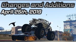 GTA Online Changes and Additions: April 25th, 2019 (New Repo Jobs)