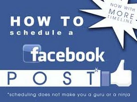 How to Schedule A Facebook post