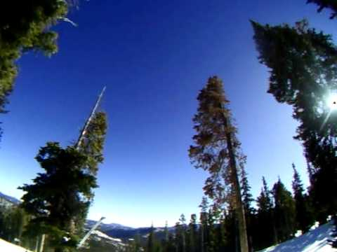 snowboarding at eldora mountain resort on a warm day