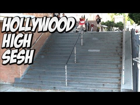 HOLLYWOOD HIGH 16 STAIR INSANE SESSION !!! - A DAY WITH NKA -