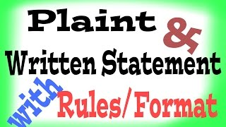 How to write plaint and written statement.