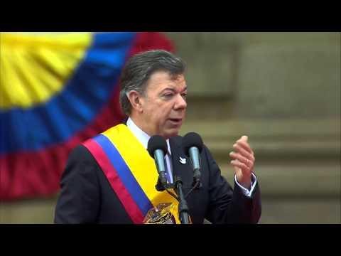 Presidente Juan Manuel Santos en su posesión para el período presidencial 2014-2018 - 7/Ago/2014
