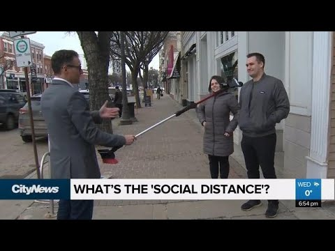 What's the 'social distance'?