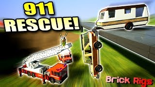 HILARIOUS EMERGENCY RESCUE with BOB and BOB! - Brick Rigs Multiplayer Gameplay Ep33