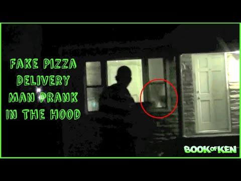 Fake Pizza Delivery Man Public Pranks : Hood Edition