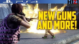 NEW GUNS AND MORE COMING TO H1Z1 PS4!NEW H1Z1 PS4 AIMING GLITCH!PS4 H1Z1 LEADERBOARDS COMING SOON!