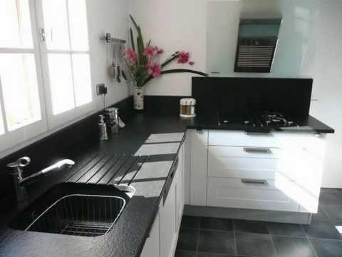 Granit noir zimbabwe flamme marbrerie france azur youtube - Plan de travail marbre noir ...