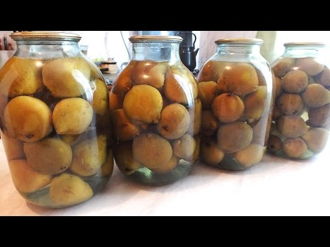 Компот из целых груш на зиму  Консервирование, заготовки на зиму How To Make Pear Preserves