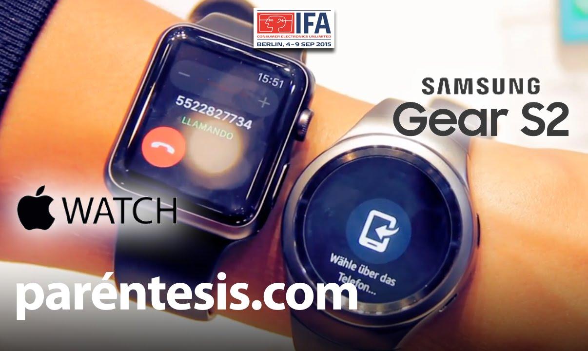 Gear Watch Gear s2 vs Apple Watch