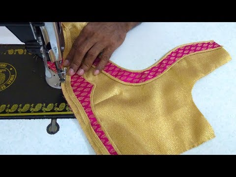 Simple blouse design stitching || women's fashion blouses || designer blouse for sarees