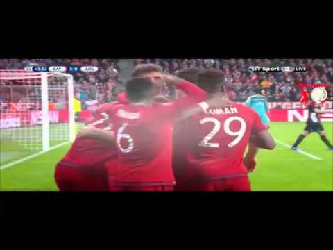 Bayern Munich 5-1 Arsenal Extended highlight - UEFA Champions League 11/4/2015